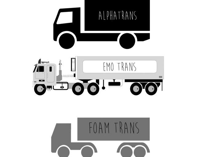 Trans trucks by Alison Evans